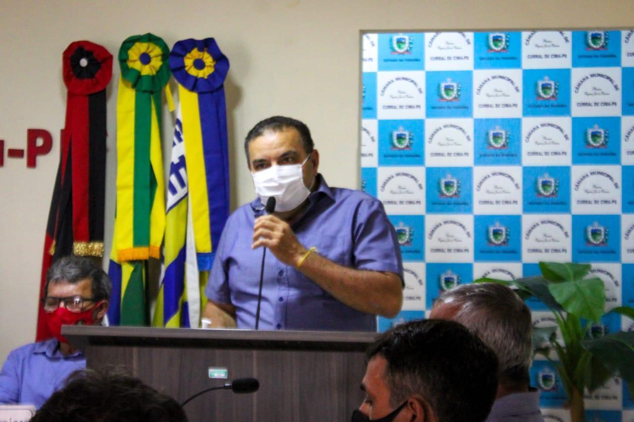 Prefeito Totó Ribeiro participa da abertura dos trabalhos legislativos na Câmara de Curral de Cima