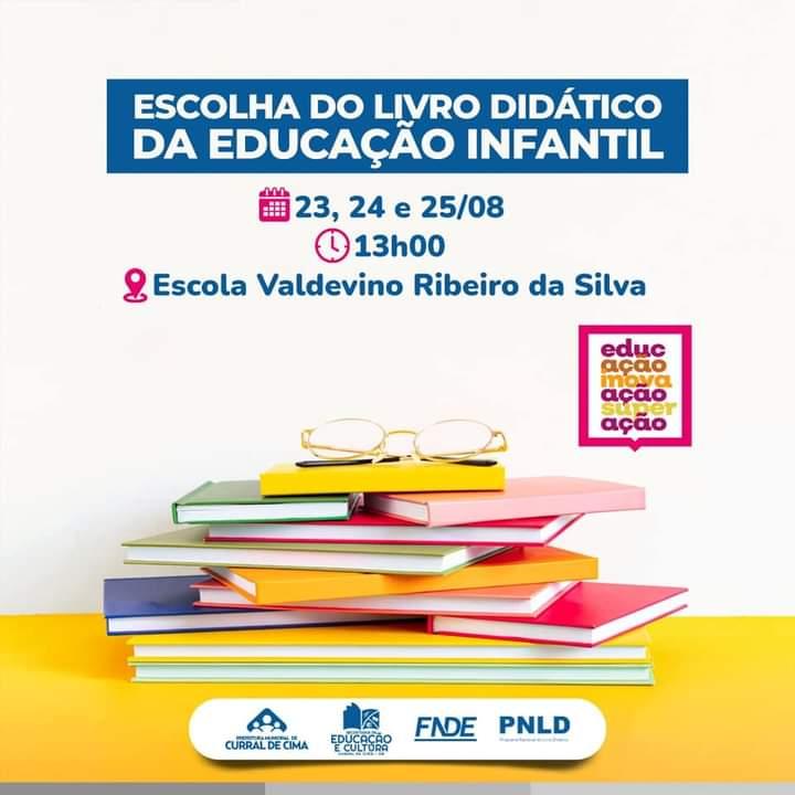 Curral de Cima realiza mostra para escolha do Livro Didático da Educação Infantil
